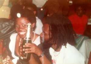 Moon City Club in Lusaka with sister Trinity. 1984