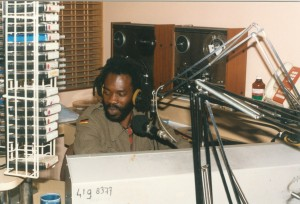 Larry Maluma presenting an African / World Music programm at 3 CR 1985/87