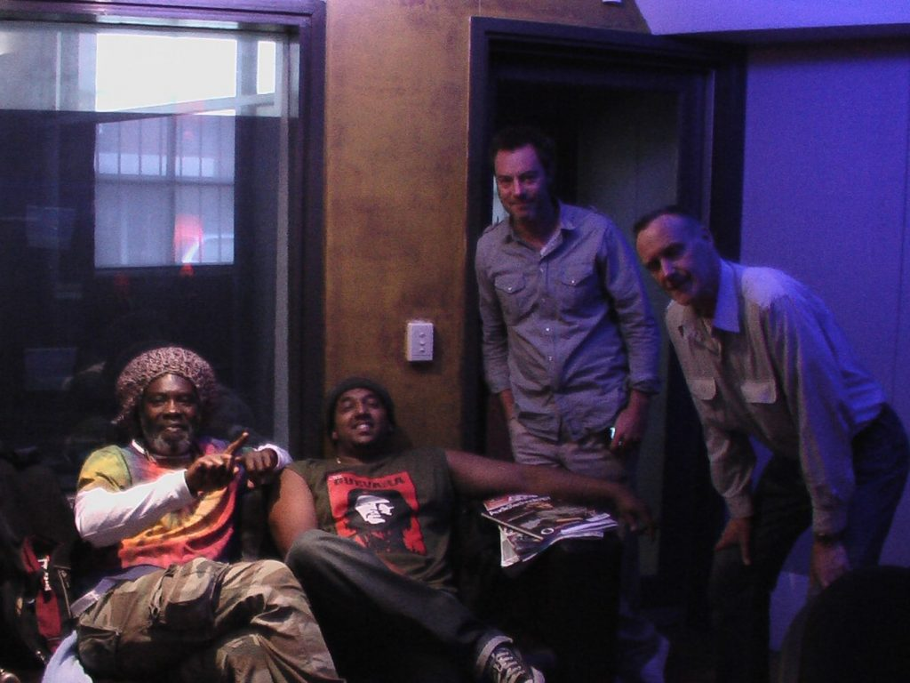 Larry Maluma, Jason Heerah, Christopher Bekker and Bruce Haymes at Woodstock Studio