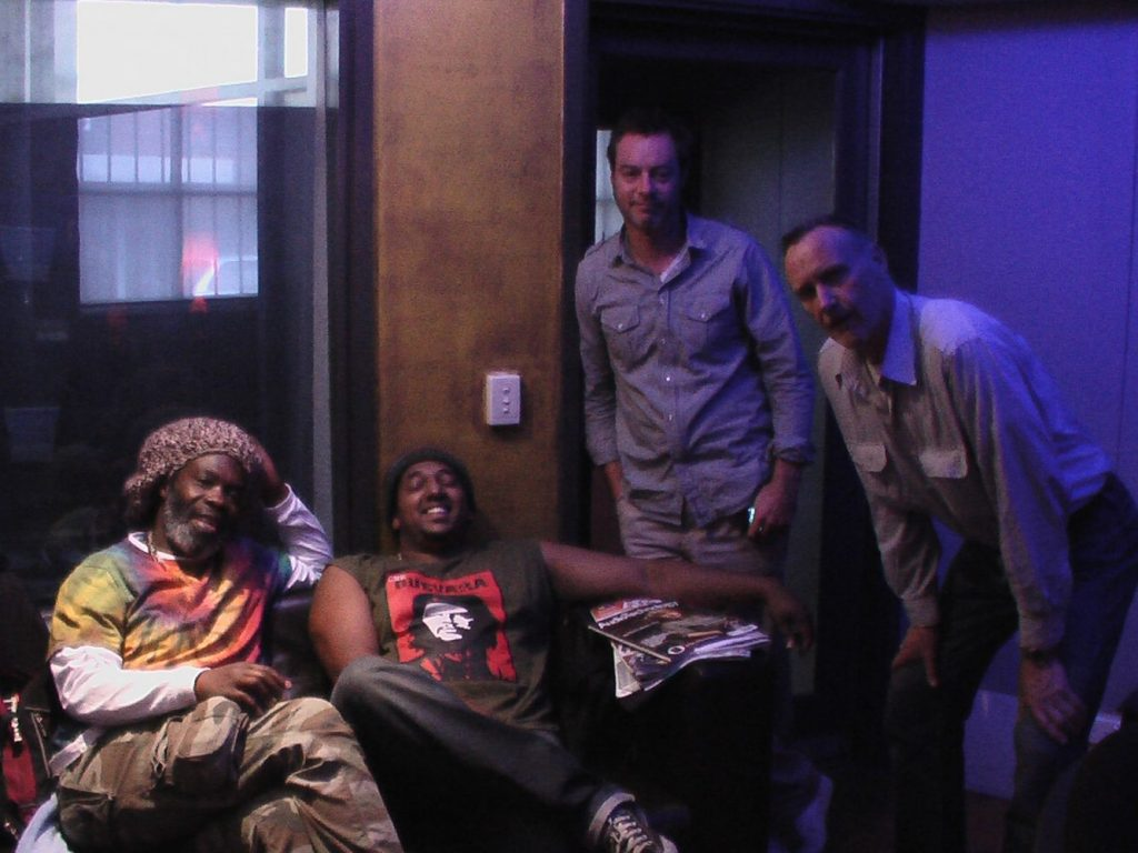 At Woodstock studio with Jason Heerah, ,Christopher Bekker and Bruce Haymes.